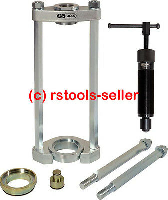 KS TOOLS Frame press with hydraulic spindle 10T Press tool 6 pieces 700.1750