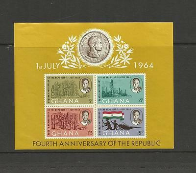 Ghana ~ 1964 Republic Day & Founder's Day (Mini Sheets) Mh