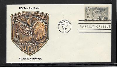 Ucv United Confederate Veterans Fdc 1951 Norfolk, Virginia Only One Made