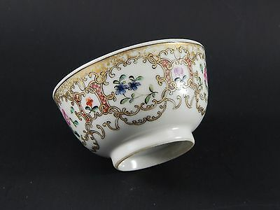 Antique Chinese Export Famille Rose Cup Meissen Deutsche Blumen  Style c.1770