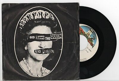 """SEX PISTOLS God Save The Queen / Did You No Wrong 7"""" SPAIN RARE 1º EDIT 1977 EX+"""