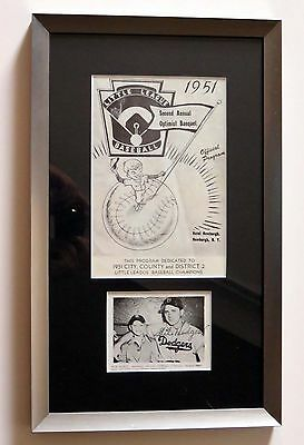 GIL HODGES SIGNED & FRAMED 1951 PROGRAM ~ JSA LOA Y29168 ~ Gorgeous ~