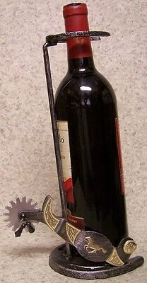 Wine Bottle Holder and/or Decorative Sculpture Western Cowboy Metal Spurs NEW