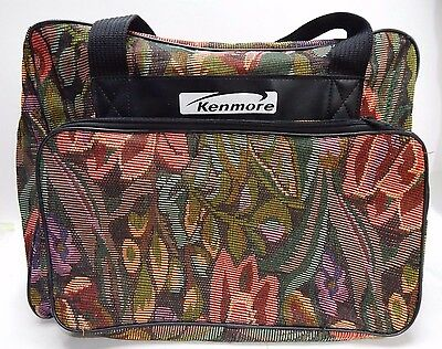 Kenmore Sewing Machine Cover Travel Case Tote Shoulder Bag Fabric Multi-Color
