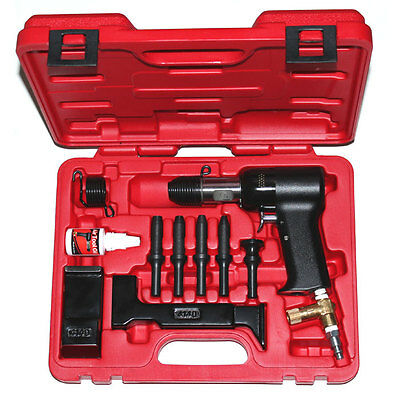 Deluxe 737 Red Box 2X Rivet Gun and Bucking Bars Kit - NEW