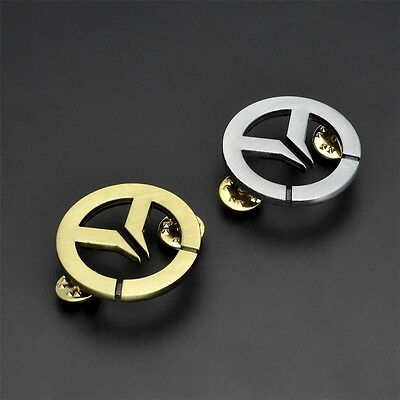 Overwatch Sign Bi-color Metal Brooch Badge Pendant Bags Decoration Collect Gift