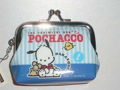 Sanrio Pochacco PC Dog Kiss-clasp Coin Bag Purse ~ 2017