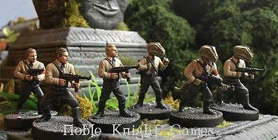 Crooked Dice 7TV Danger 5 Mini 28mm Human & Lizard Nazi Soldiers Pack MINT