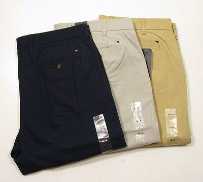 Tommy Hilfiger Men's Cotton Tailored Fit Light/Medium Weight Chino Pants