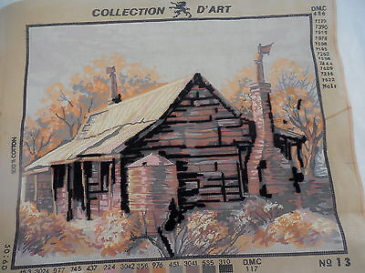 Tapestry Canvas Collection D'art Australian Homestead No.13 Worked 5%