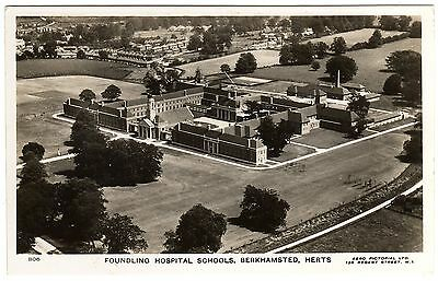 Real Photo Postcard Aerial View Of Foundling Hospital Schools-Berkhamsted-Herts