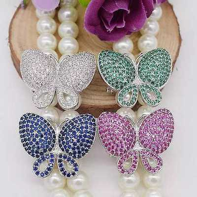 one pcs butterfly multicolorjewellery pearl necklace clasp hook wholesale beads
