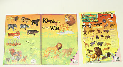 Bully Poster === 2 x Faltblatt Figuren Werbung Kingdom of the Wild Plakat