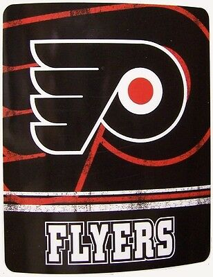 "Blanket Fleece Throw NHL Philadelphia Flyers NEW 50""x60"" with protective sleeve"