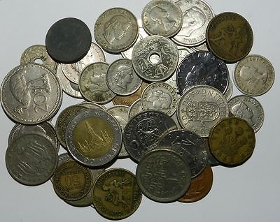50 X World Coins - Interesting Older Issues