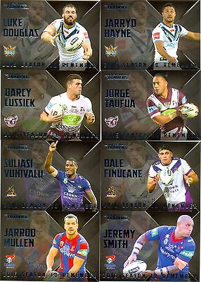2017 NRL Traders Season to Remember complete set of 32 cards
