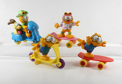 Garfield === 4 x Garfields McDonalds Figuren