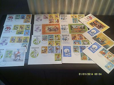 Walt Disney.1979.collection Of 15 First Day Covers,inc. Mini Sheets