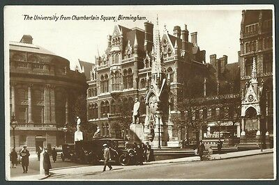 Birmingham The University From Chamberlain Square 1931 Real Photo Postcard