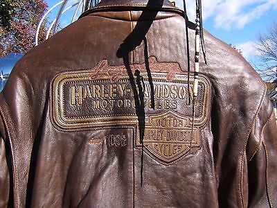 Harley Davidson Legendary Leather Bomber Jacket X-Large Xl