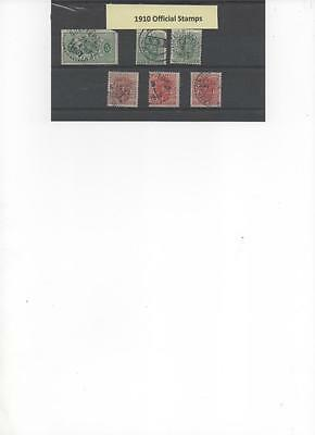 Sweden 1910 collection of Official stamps