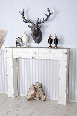 Decorative Fireplace Shabby Chic Console Mantel Surround