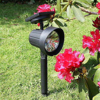 Festive Lights 2 Pack Super Solar High Power LED Outdoor Garden Path Spot Lights