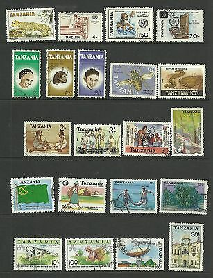 TANZANIA Colourful lot of 21 Different fine used with Higher values