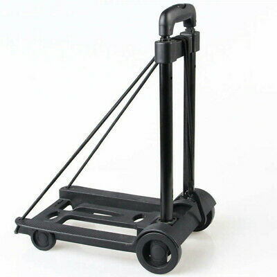 TRIXES Collapsible Folding Portable Wheelie Travel Luggage Trolley Cart