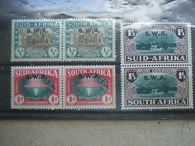 SOUTH WEST AFRICA 1939  250th Anniversary of Huguenots Landing  mm set