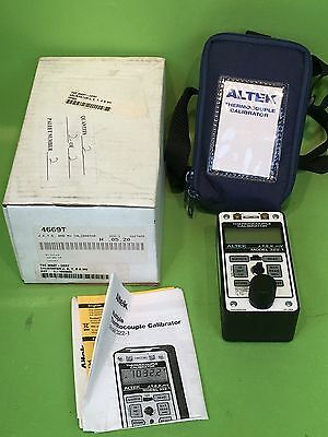 New ALTEK THERMOCOUPLE CALIBRATOR MODEL 322-1 (J,T,E,K,mV) w/ Case