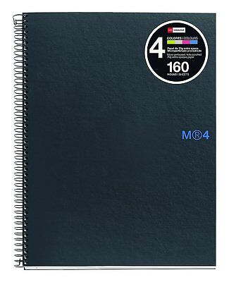 Miquelrius 6 x 8 Graphite Notebook, 4-Subject, College Ruled 160 SHEETS