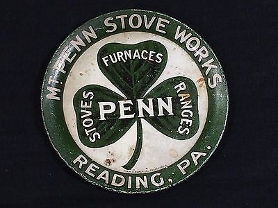 Mt Penn Stove Works Advertising Tip Tray Reading PA Clover Leaf