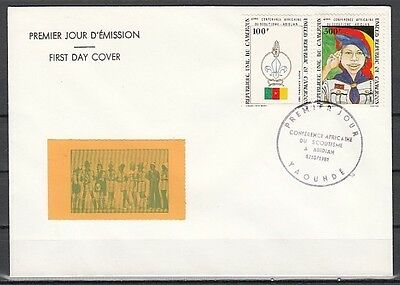 Cameroon, Scott cat. C293-C294. 4th Scout Conference issue. First Day Cover.