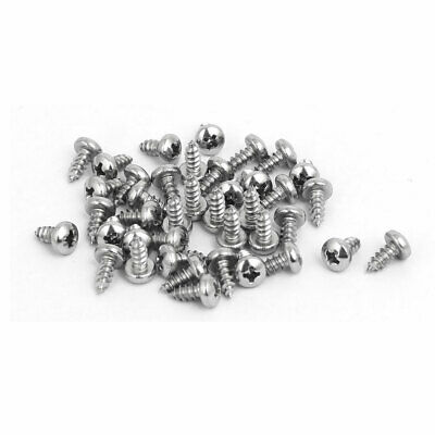 M2.9x6.5mm 316 Stainless Steel Phillips Pan Head Self Tapping Screws 40pcs