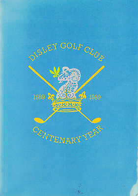 DISLEY GOLF CLUB The History of a Country Golf Club 1889-1989 1st Ed RARE
