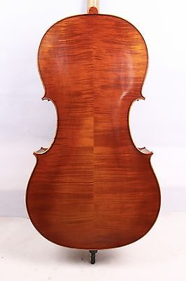 Cello Flame Maple Spruce 4/4 bag Bow Rosin Master Level Hand carve Yinfente #639
