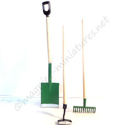 Dolls House 12th Scale Garden Tools 3 Pack