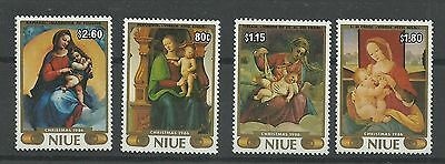 NIUE 1986  Christmas - Paintings from the Vatican Museum   umm / mnh set