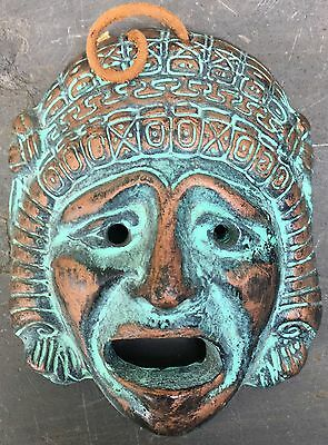 Reproduction Clay Antiquity Greek Theatre Mask  Dionysian Tragedy