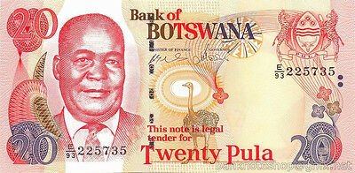 BOTSWANA █ 20 Pula █ 2008 █ DE LA RUE █ UNC █ RARE ISSUE YEAR VARIETY █ UNLISTED
