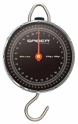SABER 27kg 60lb Specimen Weigh Scales Carp Coarse Fishing Weighing Dial Scale