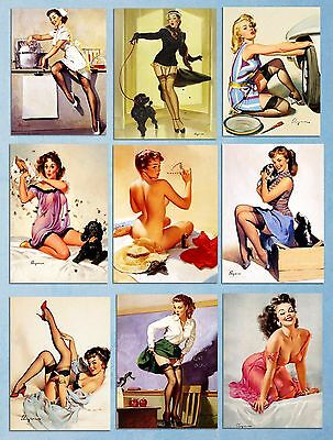 Metal signs plaques retro vintage style Gil Elvgren pin up girls tin 20x15cm