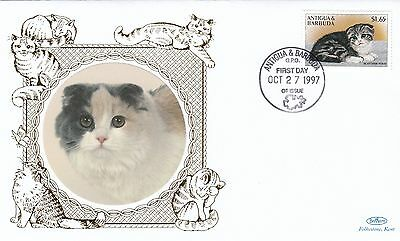 (01648) Antigua Barbuda Benham FDC Cats 27 October 1997