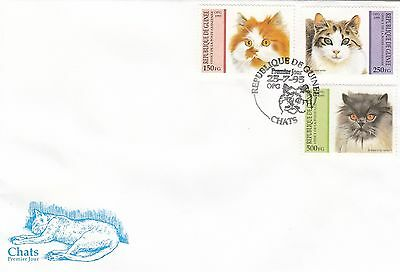 (01753) CLEARANCE Guinea FDC Cats 25 July 1995