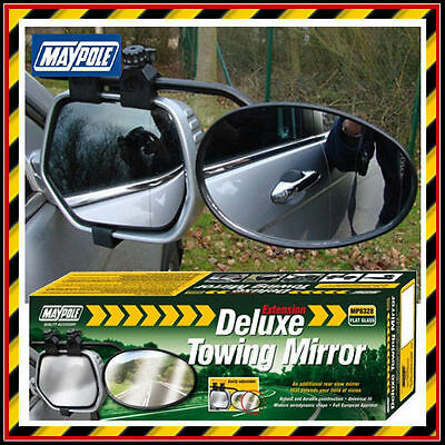 Maypole Deluxe Extension Towing Flat Glass Mirror - Caravan Wing Mirror