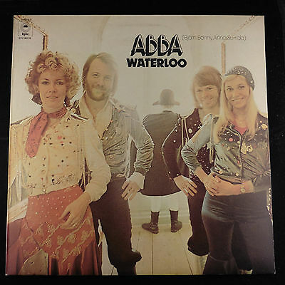 LP ABBA Waterloo original Yellow Label UK Vinyl Album Superb!  EX+/ EX+