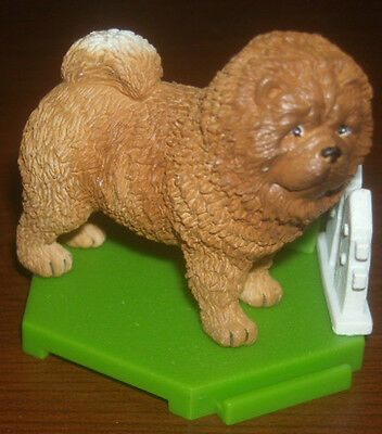 Rare Exclusive Mini Puppy Dog Figure Chow Chow W/ Base And Accessories Mip