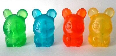 RARE HAMTARO AND HAMSTER FRIENDS 3.3cm TRANSPARENT PENCIL TOPPER  X 4 (SET B)