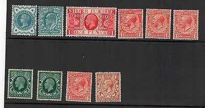 Gb. Qv-Gv  Unmounted Mint Small Selection.see Pictures